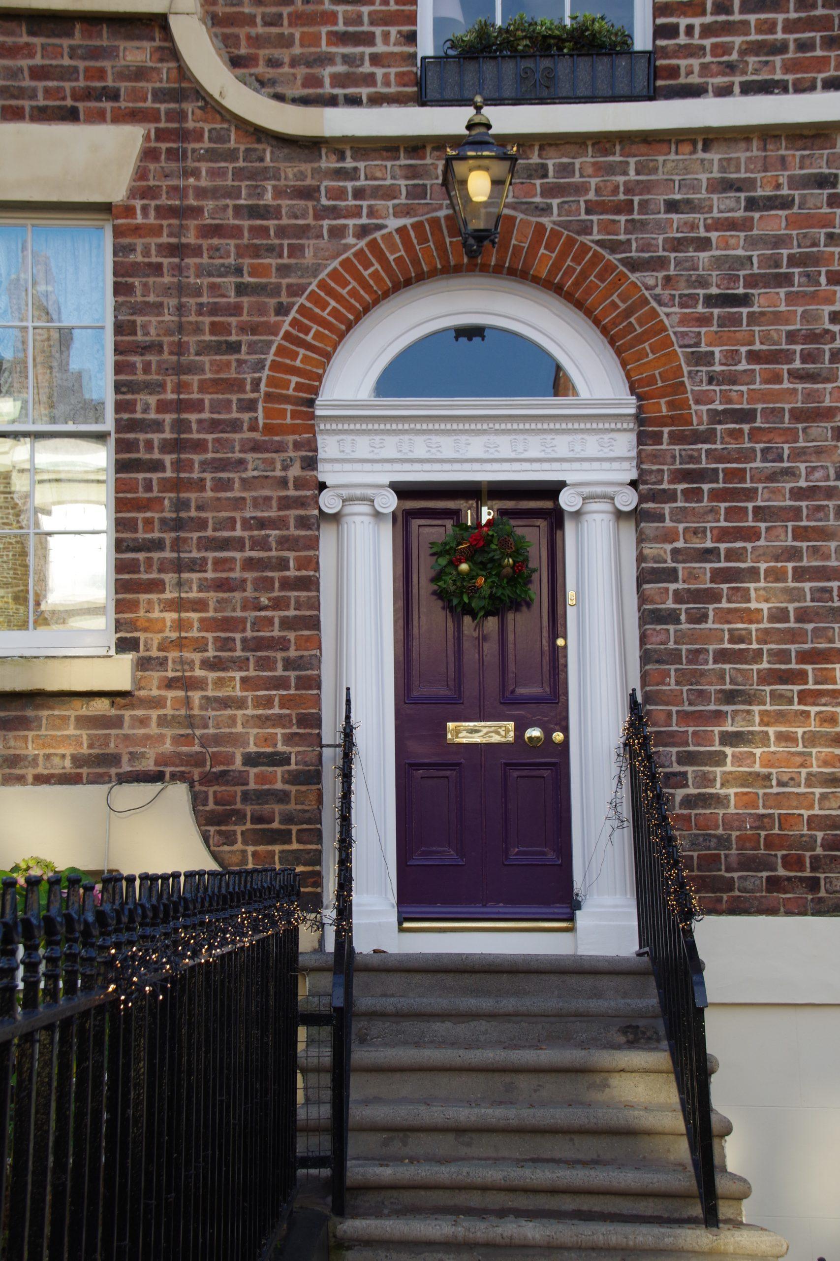 The Christmas doorway