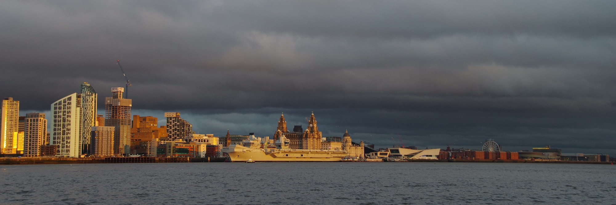 The Warship and the three graces