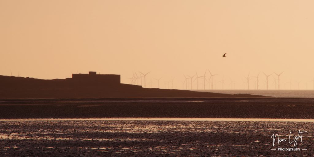 Hilbre Island from Hoylake at Sunset