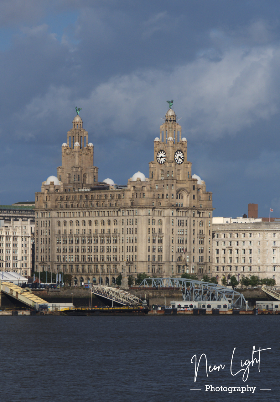 Royal Liver Buildings at Low Tide