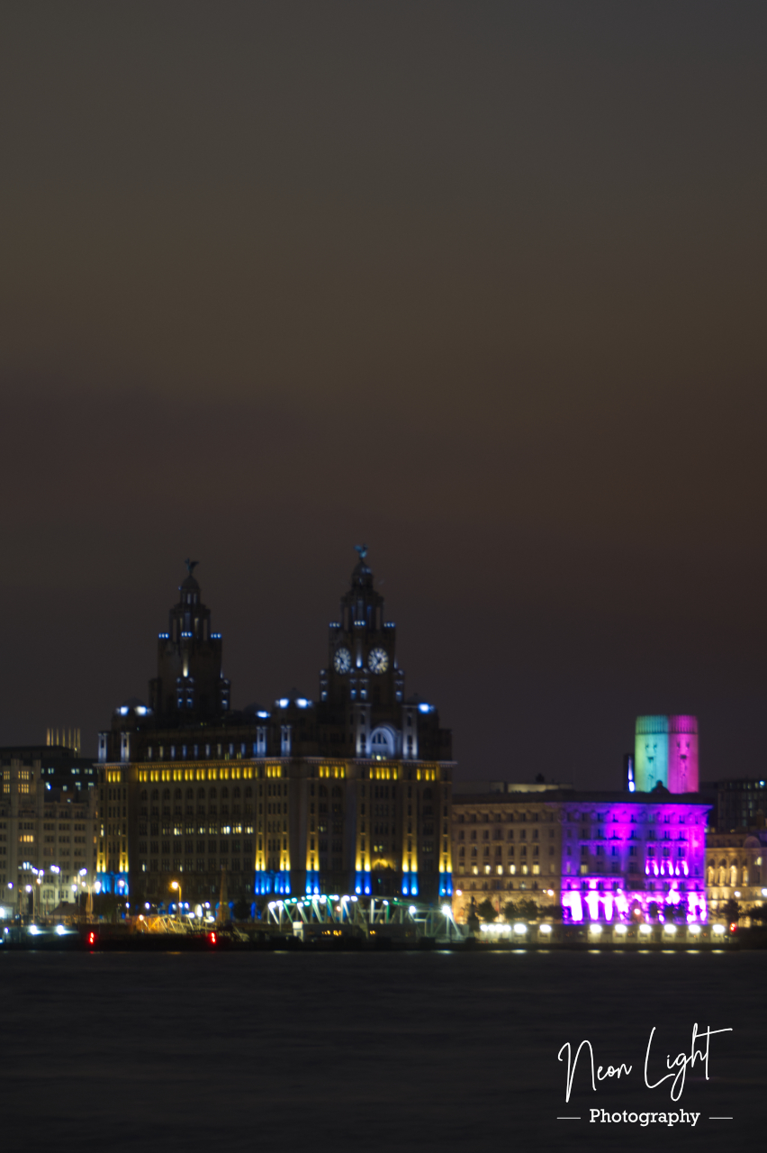 Blue and Yellow Liver Buildings