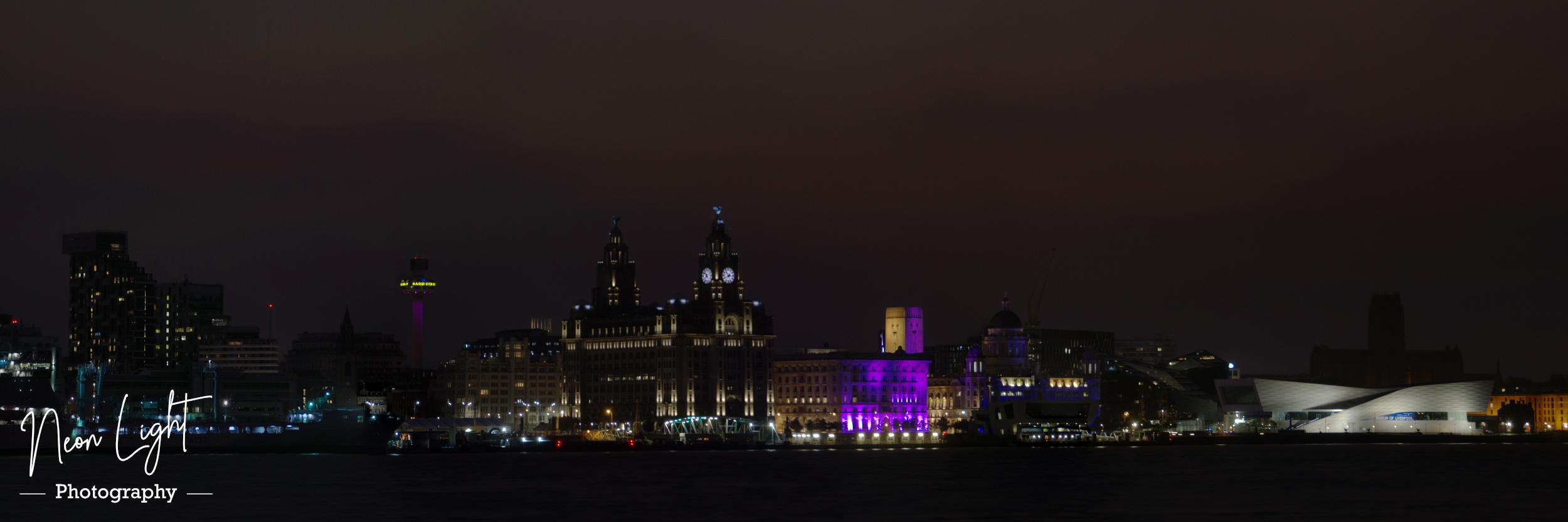 Liverpool Skyline by Night