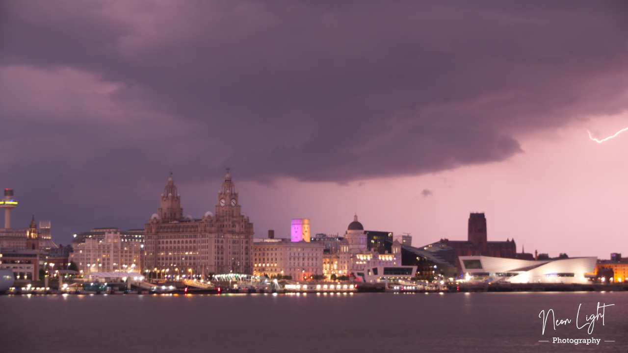 Bolt of Lightning over Liverpool