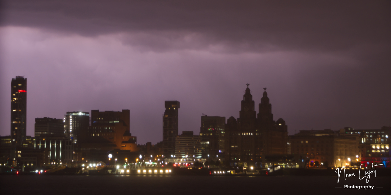 Liverpool Stormy Silhouette