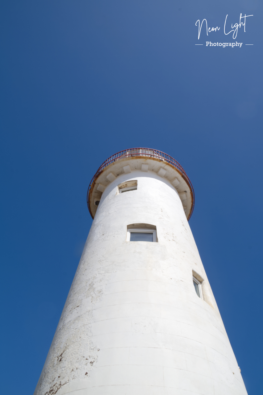 Looking up at Point of Ayr Lighthouse