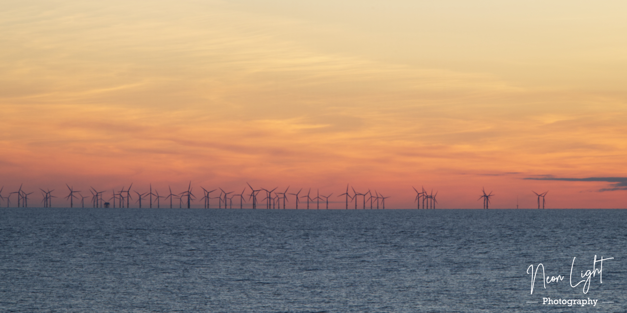 Dee Bank Wind Farm Sunset