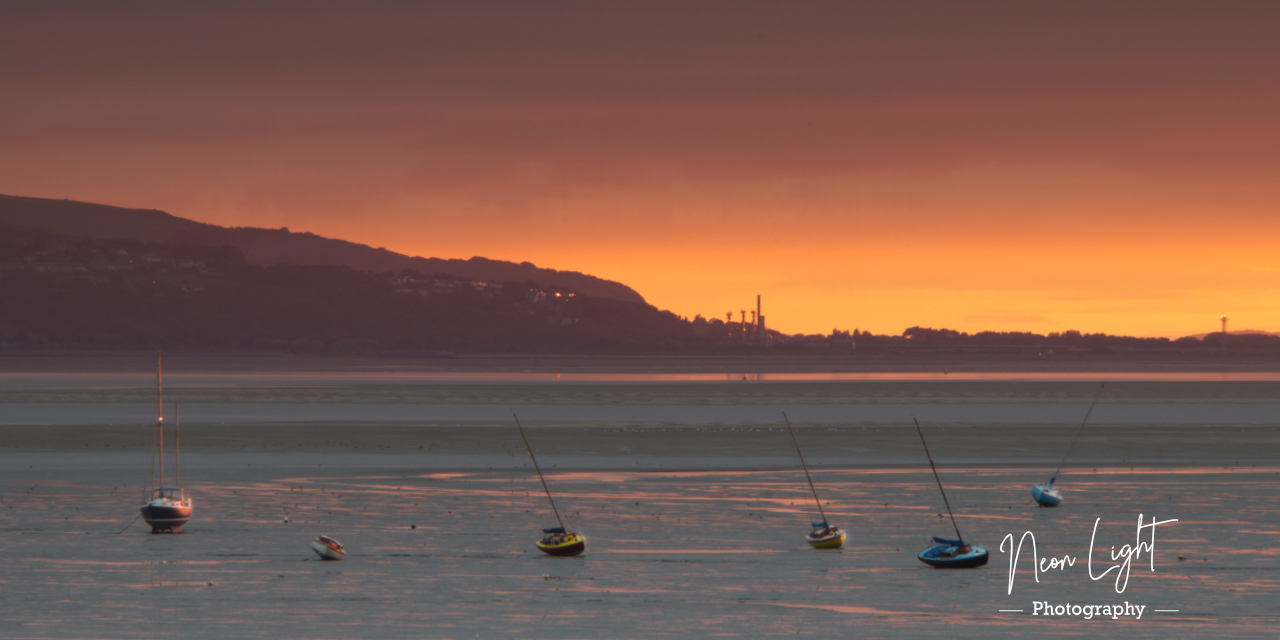 Sunset Yachts on West Kirby Shore