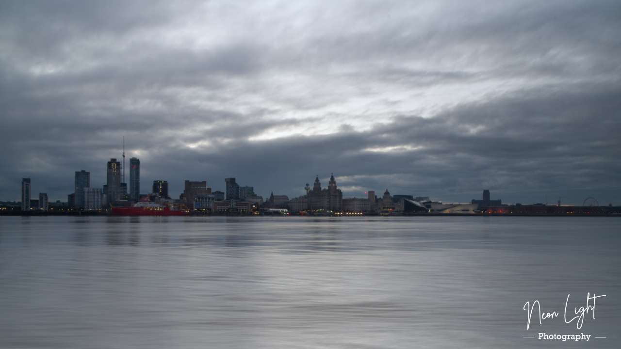 Liverpool Skyline as the Day Breaks