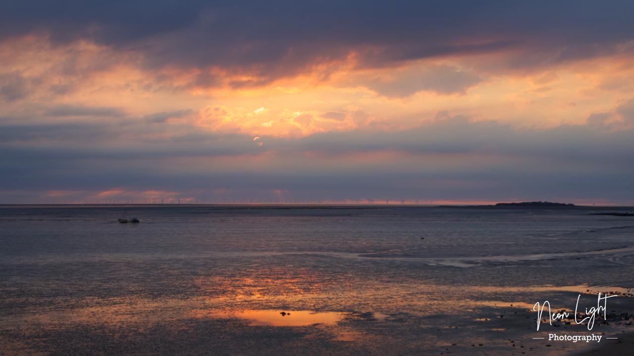 Dee Estuary Rainbow Skies