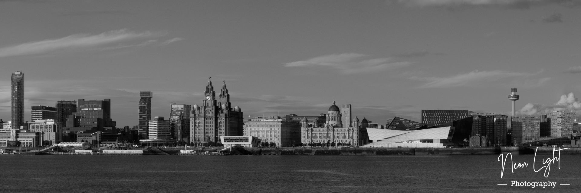 Black and White Summer Liverpool Waterfront