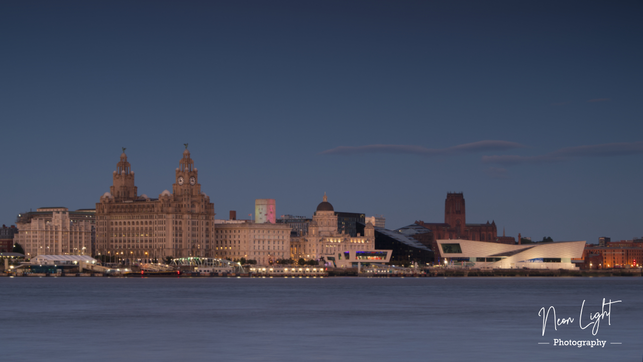 Liverpool Waterfront Evening Illumination