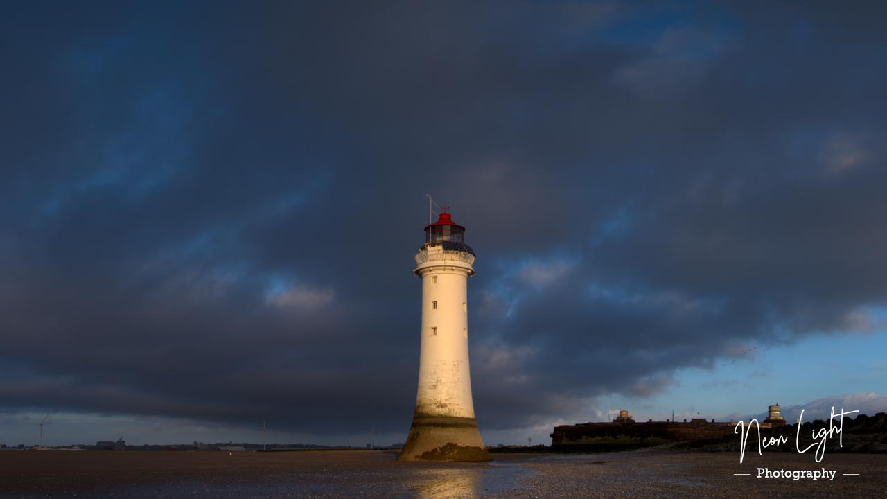 New Brighton Lighthouse at Dusk