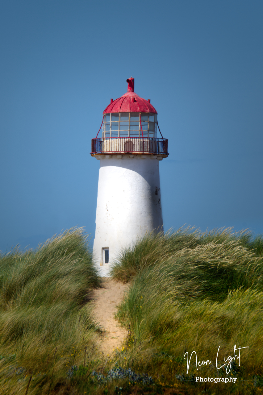 Point of Ayr Lighthouse in the Wind
