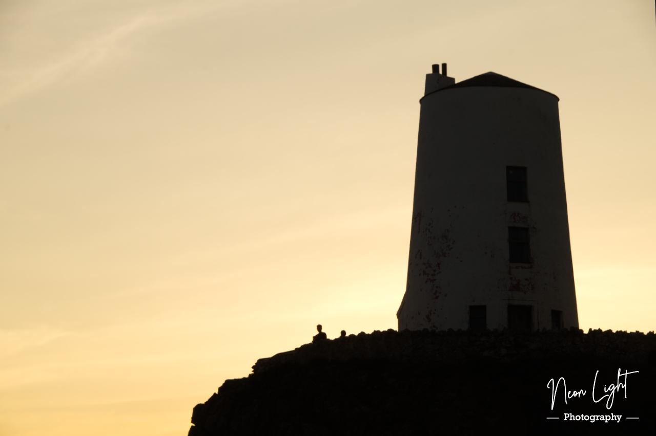 Twm Mawr Lighthouse Sunset Silhouette