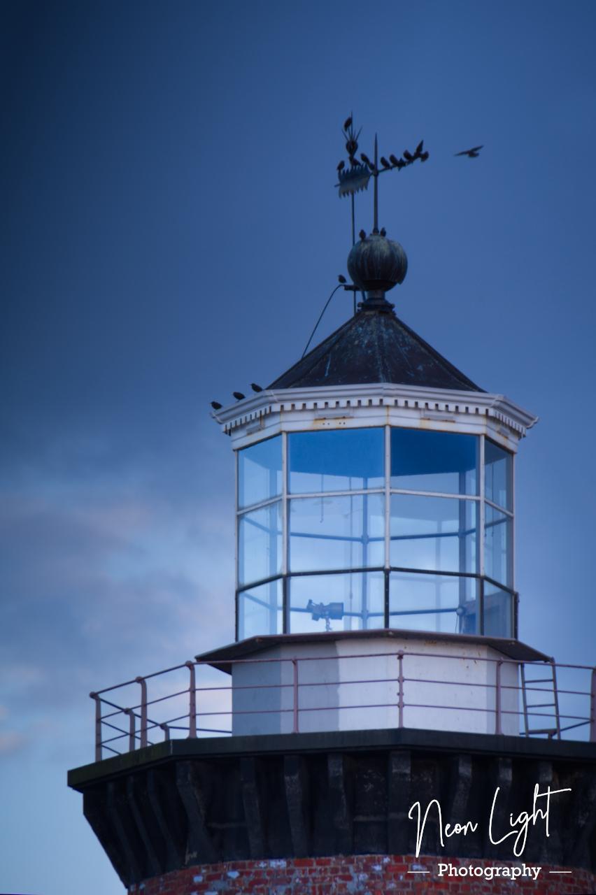 Perched on Hoylake Lighthouse