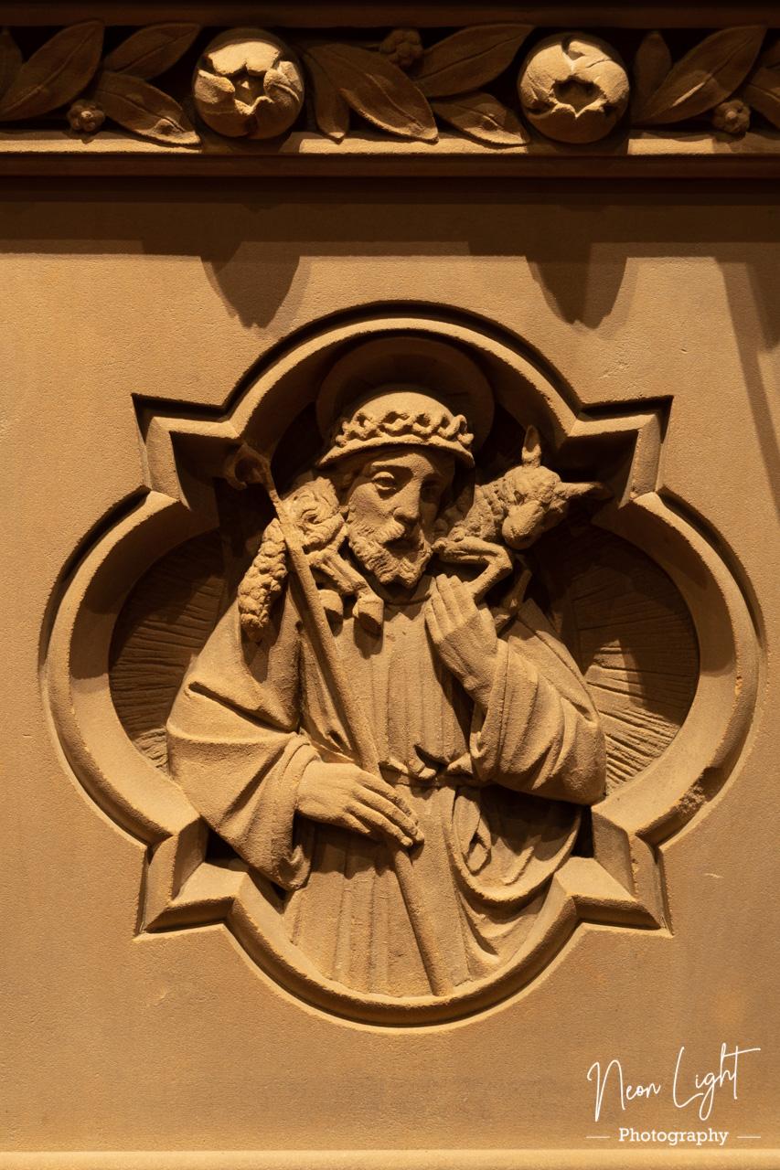 St Bridgets Pulpet Carving