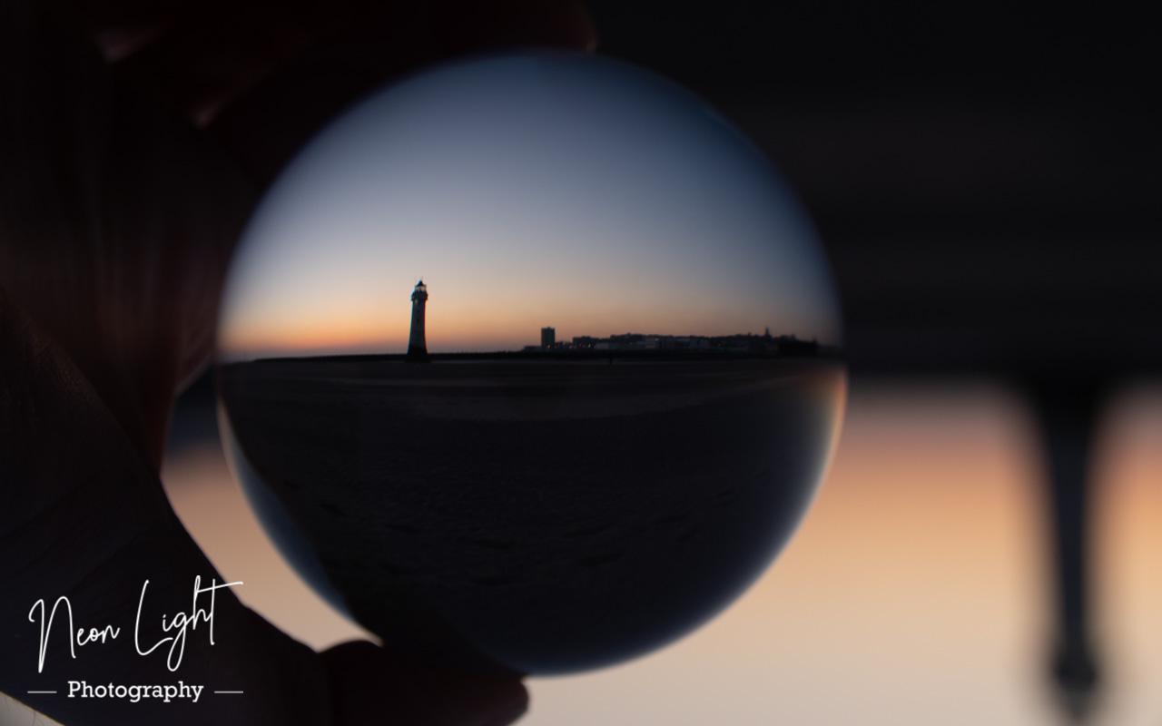 New Brighton Sunset Lensball