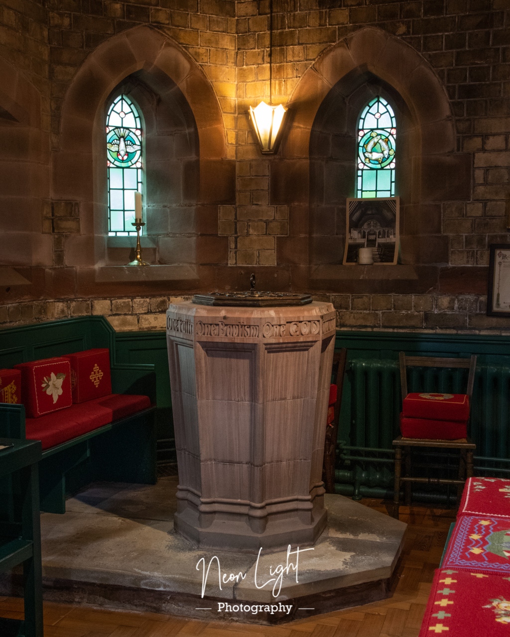 Caldy Church Baptismal Font