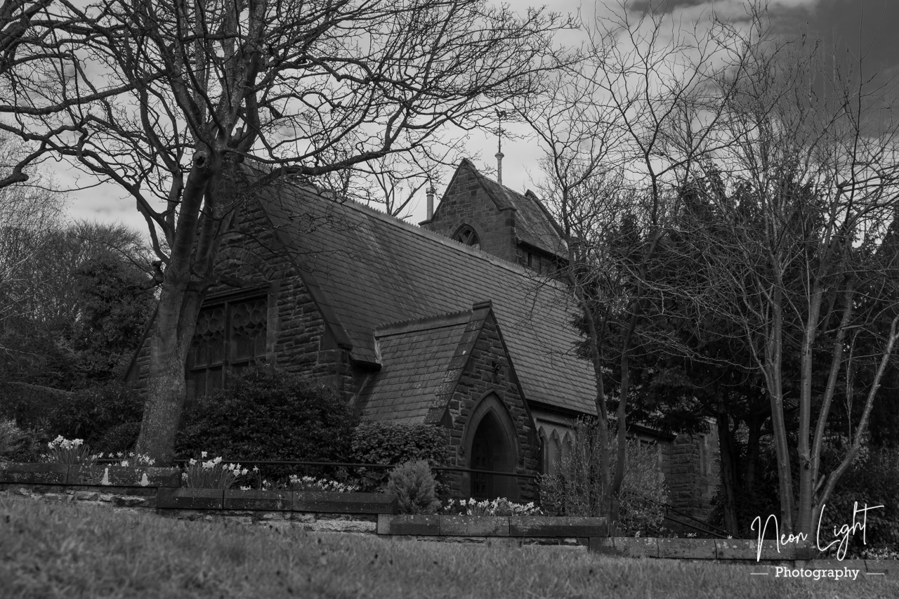Caldy Church Black and White