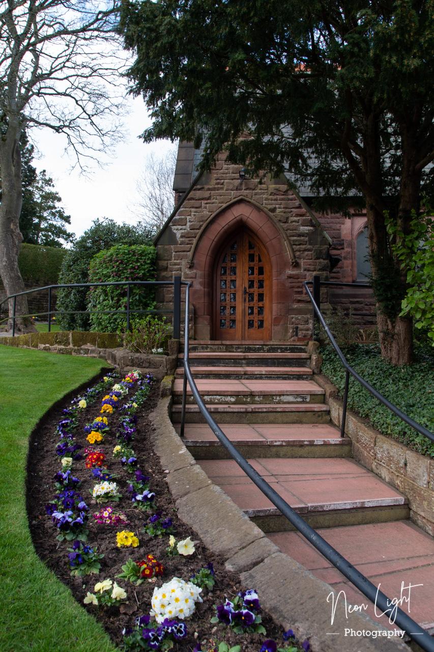 Approaching Caldy Church