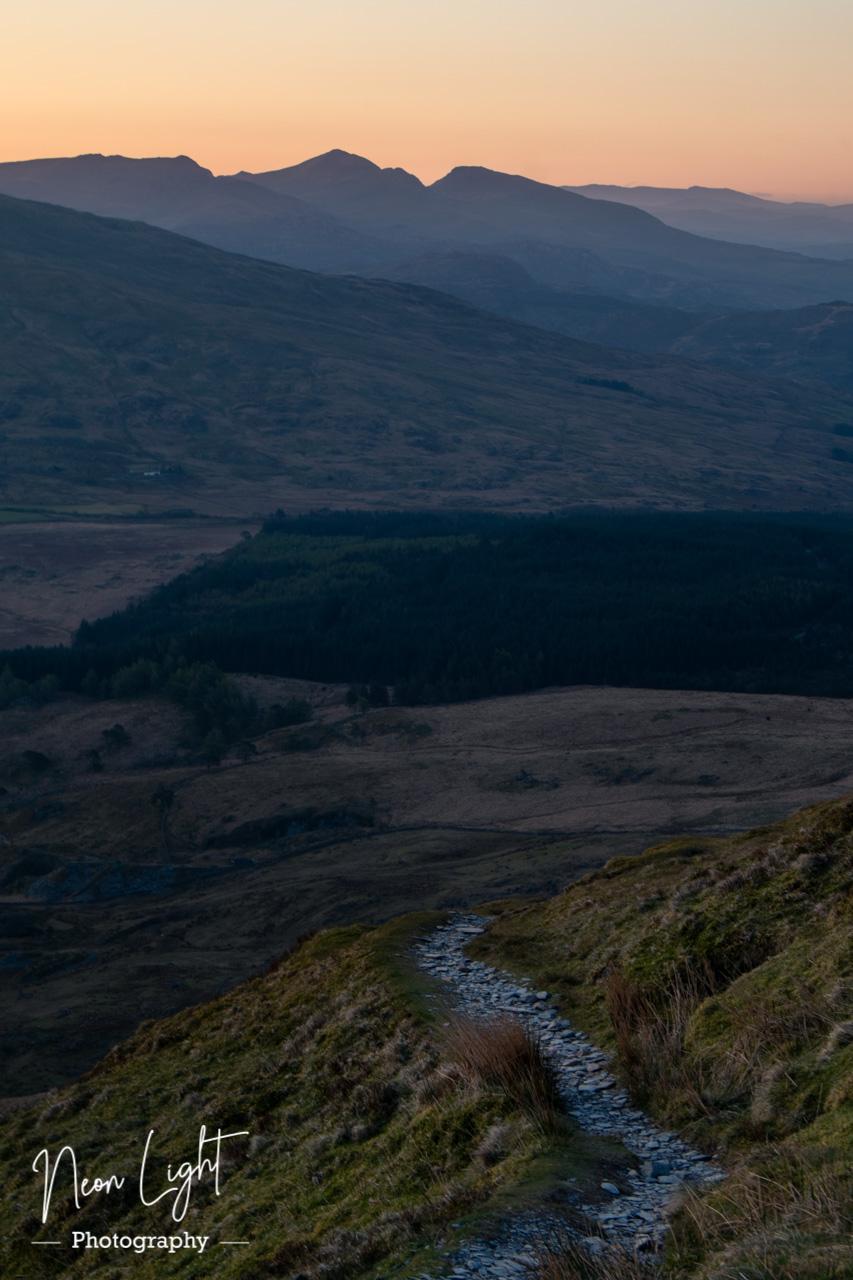 Walk as the Sun Rises in Snowdonia