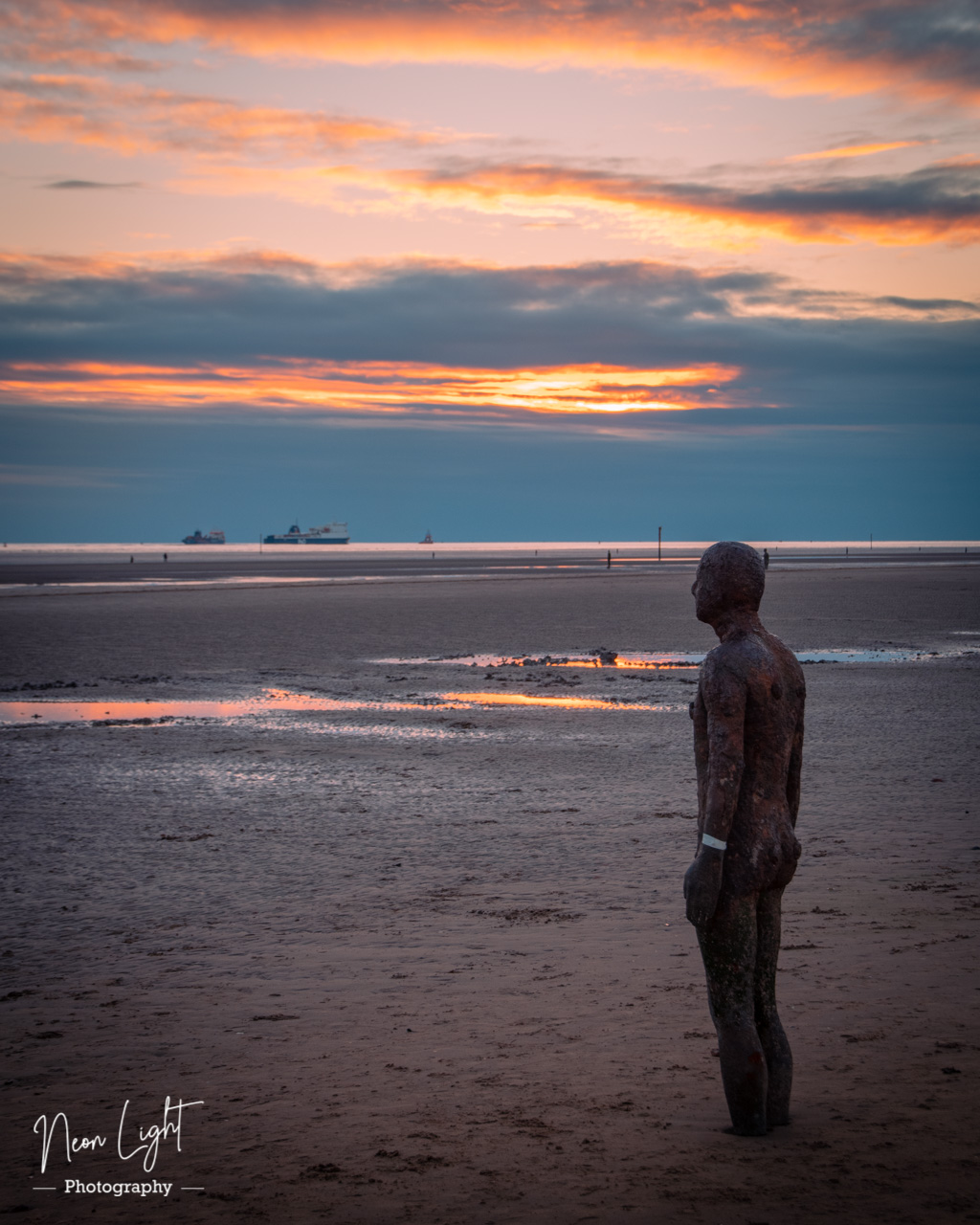 Sunset Statues