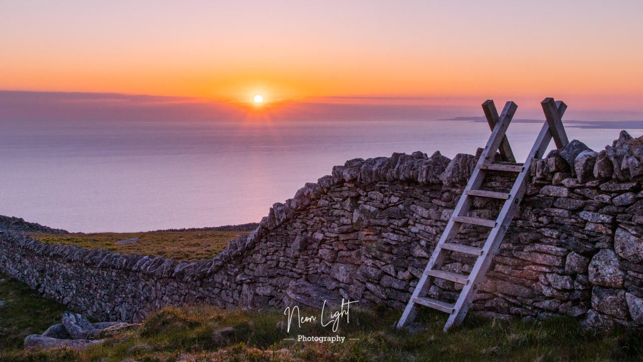 Sunset on Bwlch Mawr