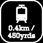 Distance to nearest station, West Kirby, is 0.4km / 450 yards.